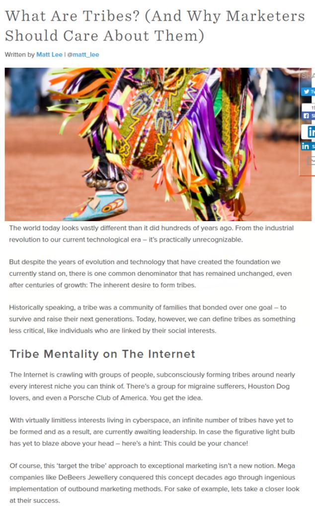 Matt Lee describes Tribes and Marketing with Hubspot.com
