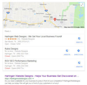Your business needs to be in the 3 pack of google